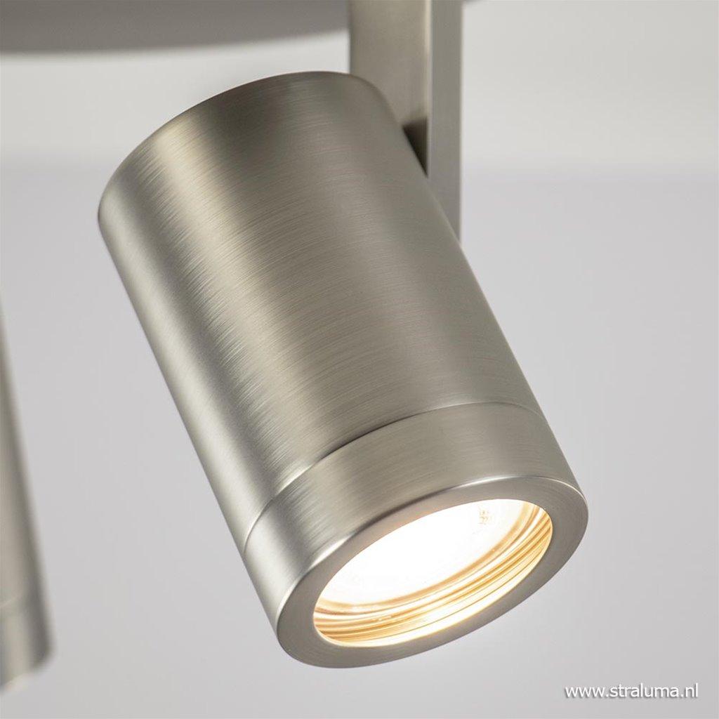 Verstelbare opbouwspot 3-lichts GU10 mat nikkel
