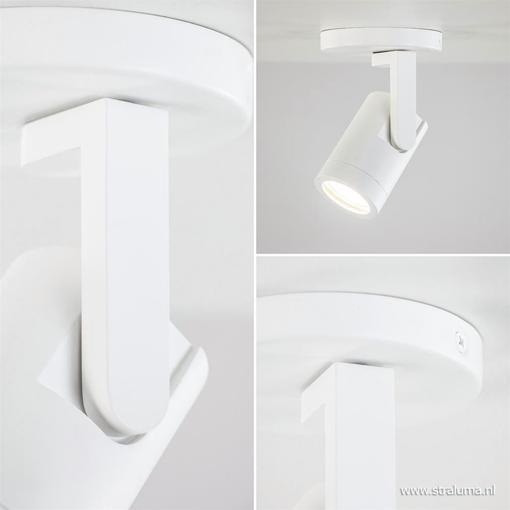 Moderne plafondspot toilet/hal wit metaal