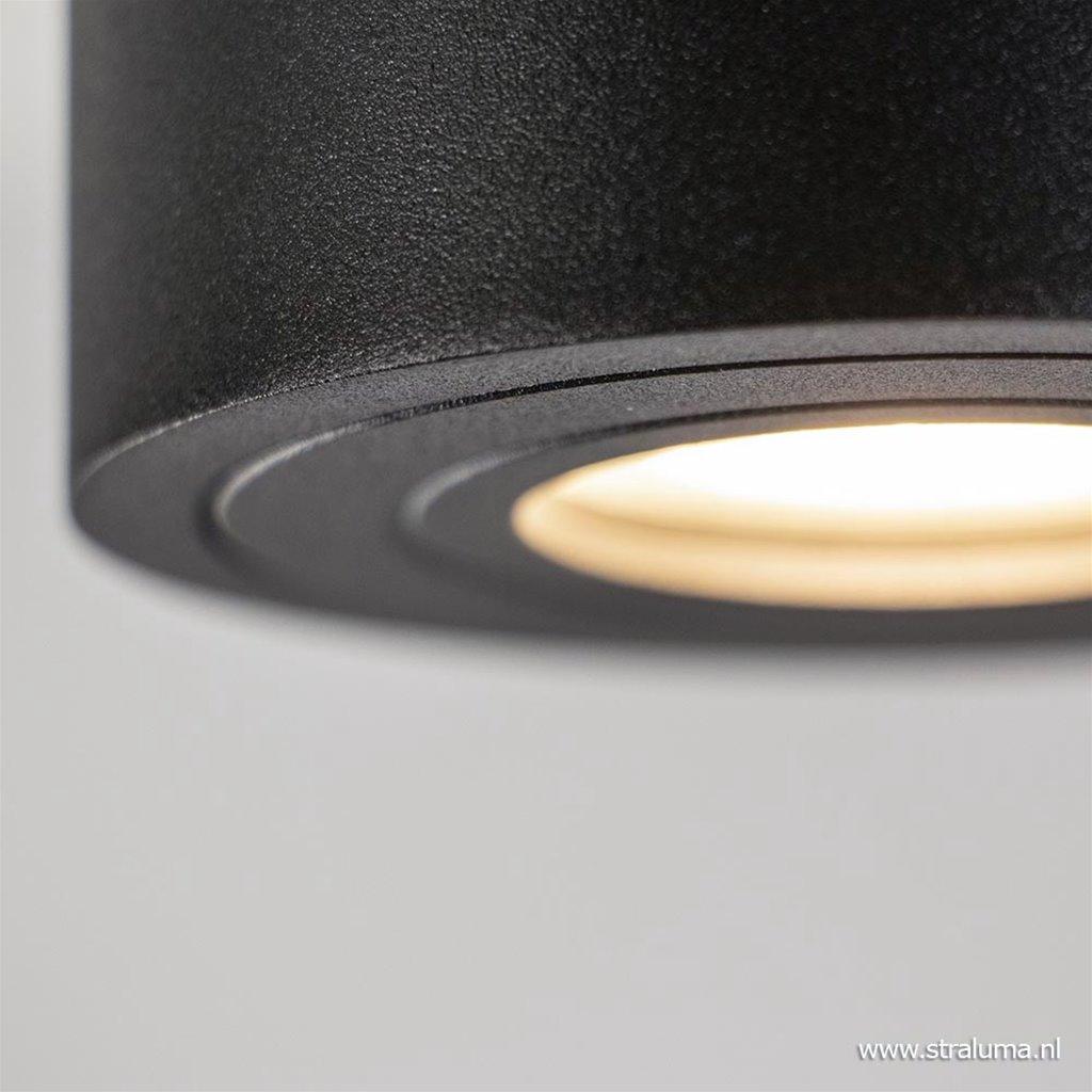 Plafondspot cilinder zwart verstelbaar gu10