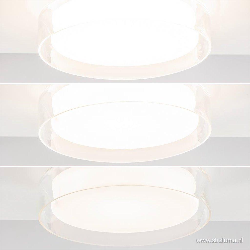 Badkamer plafondlamp chroom met opaal glas