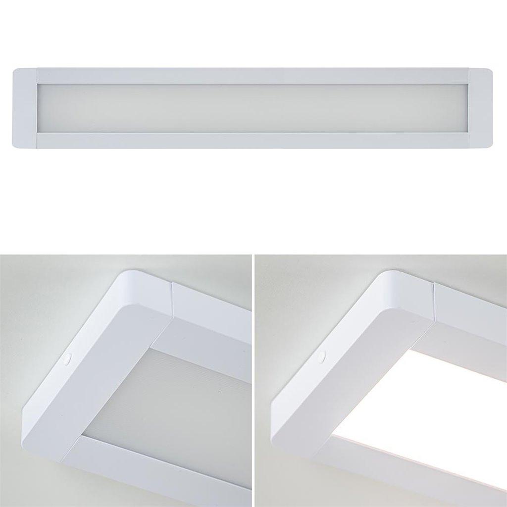 Langwerpige plafondlamp LED panel wit