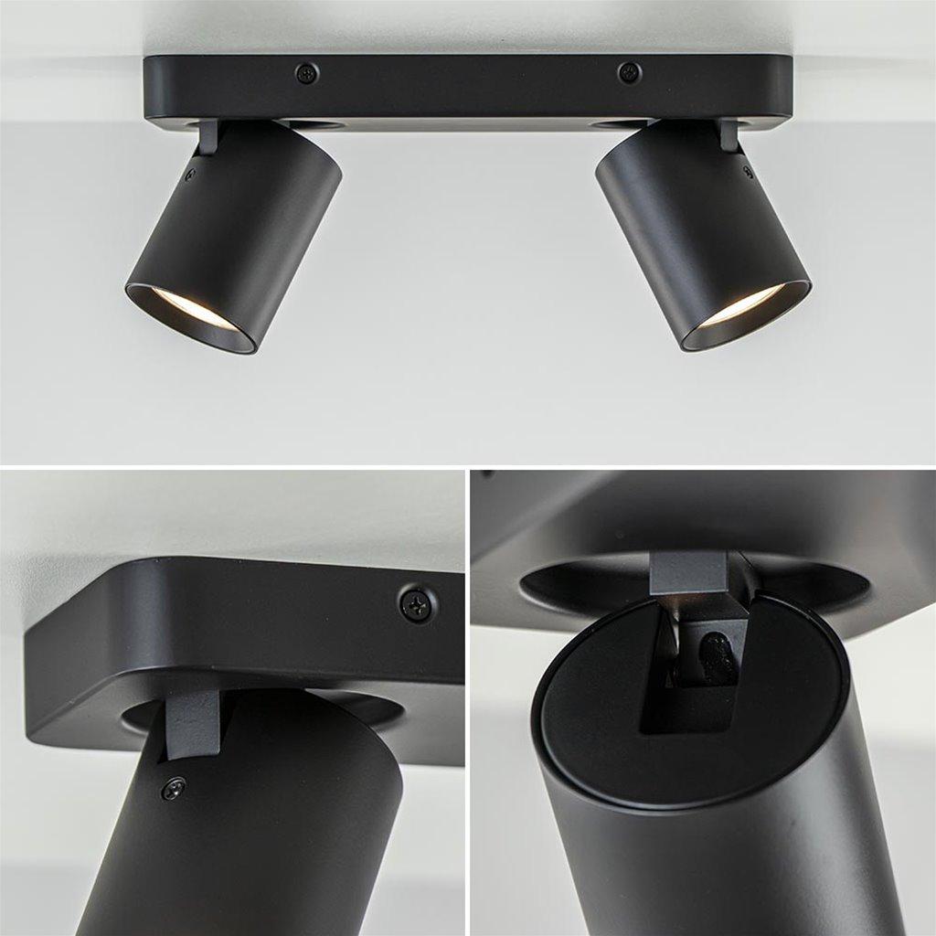 GU10 opbouwspot 2-lichts verstelbaar