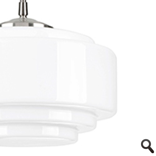 Art Deco hanglamp Cambridge nikkel