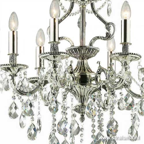 Romantische kroonluchter zilver