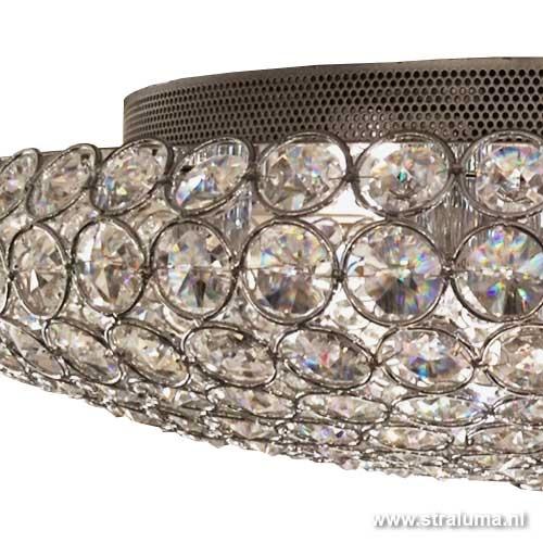 Chique plafonnière kristal slaapkamer
