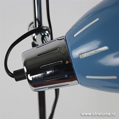 Retro vloerlamp blauw verstelbaar