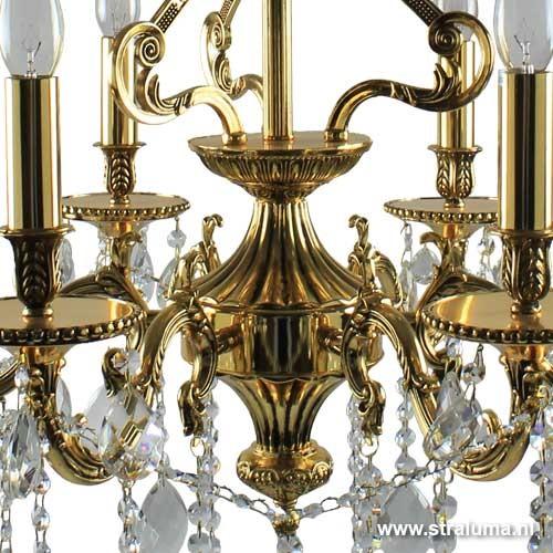 Klassieke hanglamp kroonluchter goud straluma for Klassieke hanglamp