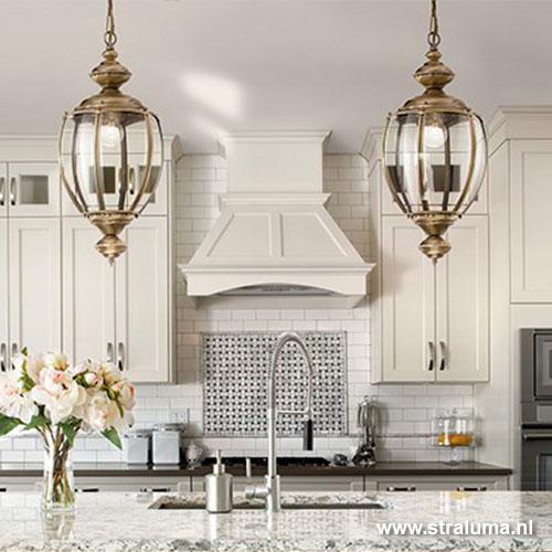 klassieke hanglamp lantaarn brons straluma