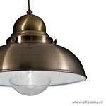 **Maritiem hanglamp brons eettafel rond