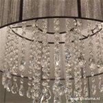 **Luxe kroon-hanglamp zwart met kristal