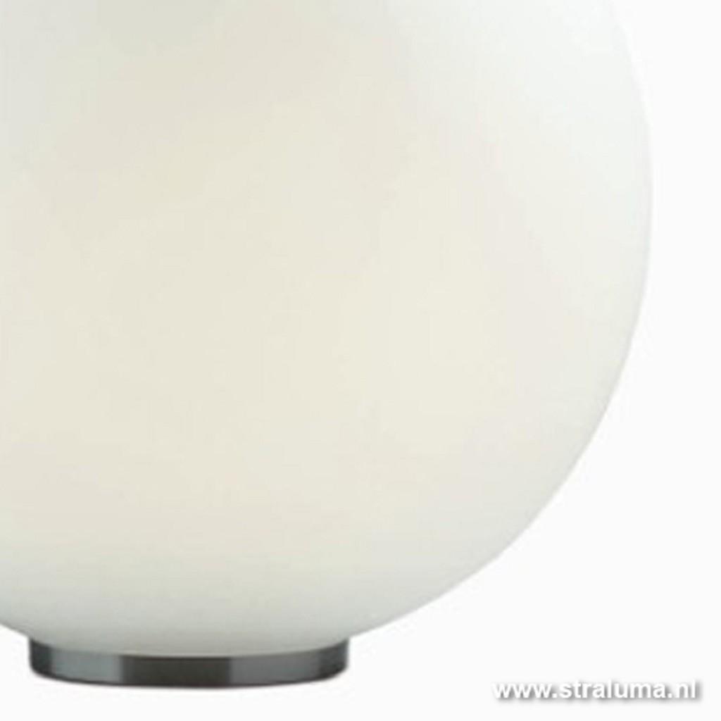 Tafellamp bol melk glas