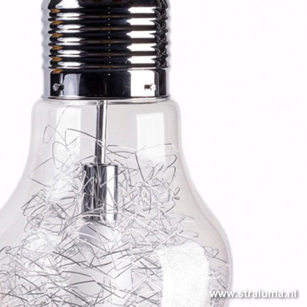 Hanglamp Gloeilamp draad helder glas
