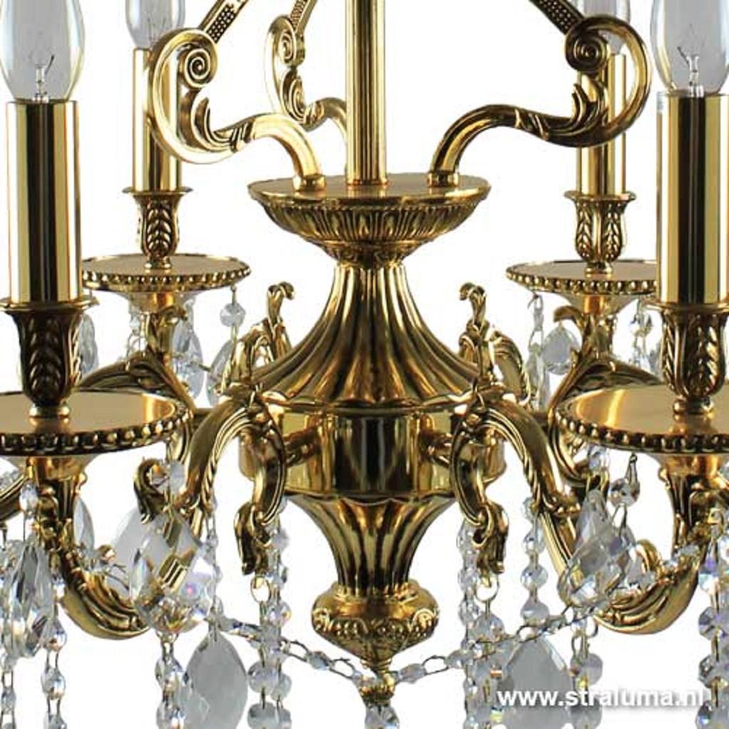 Klassieke hanglamp/kroonluchter goud