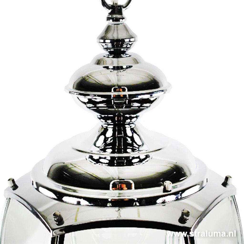 Hanglamp lantaarn zilver-chroom
