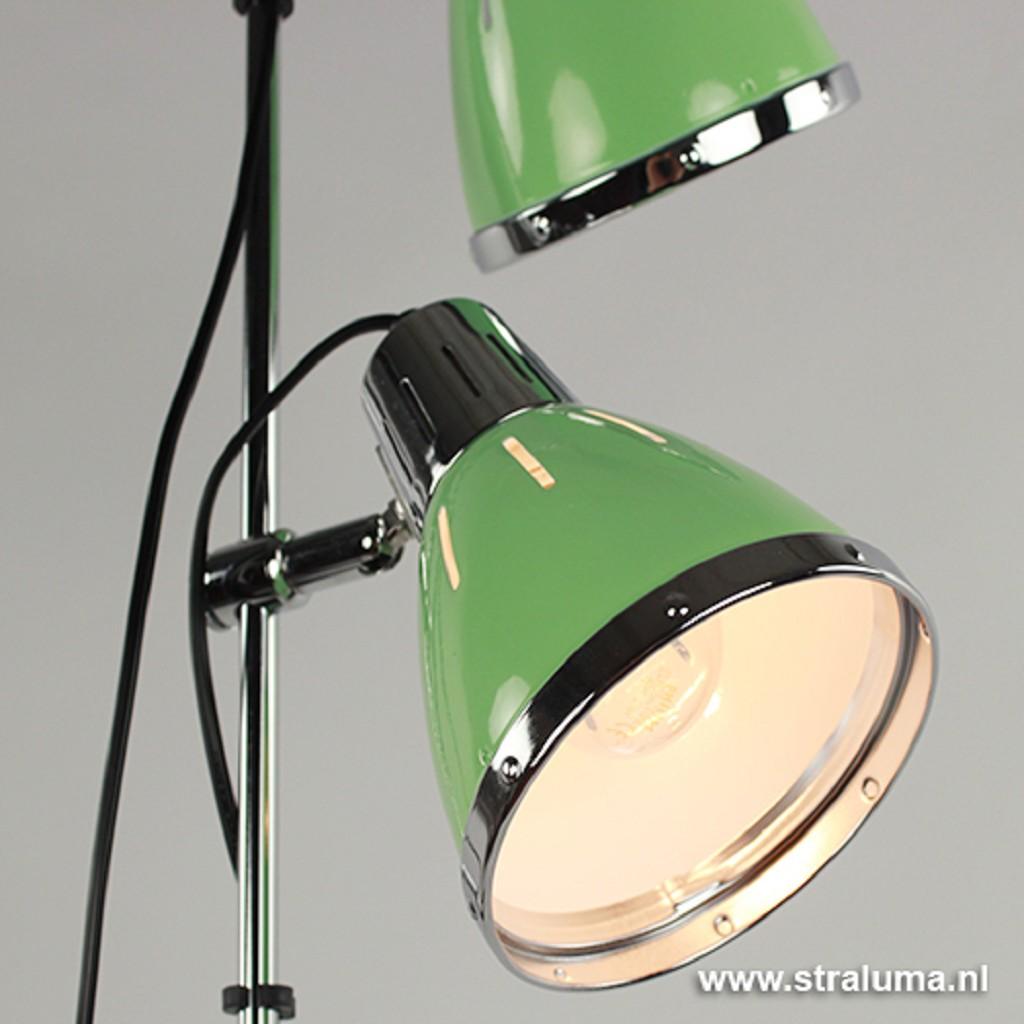 Retro staande lamp groen leeslamp