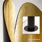 Luxe vloerlamp pilar zwart/bladgoud