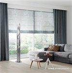 *Zilveren design vloerlamp-lichtzuil