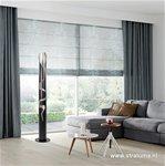 Design lichtzuil-vloerlamp zwart-zilver