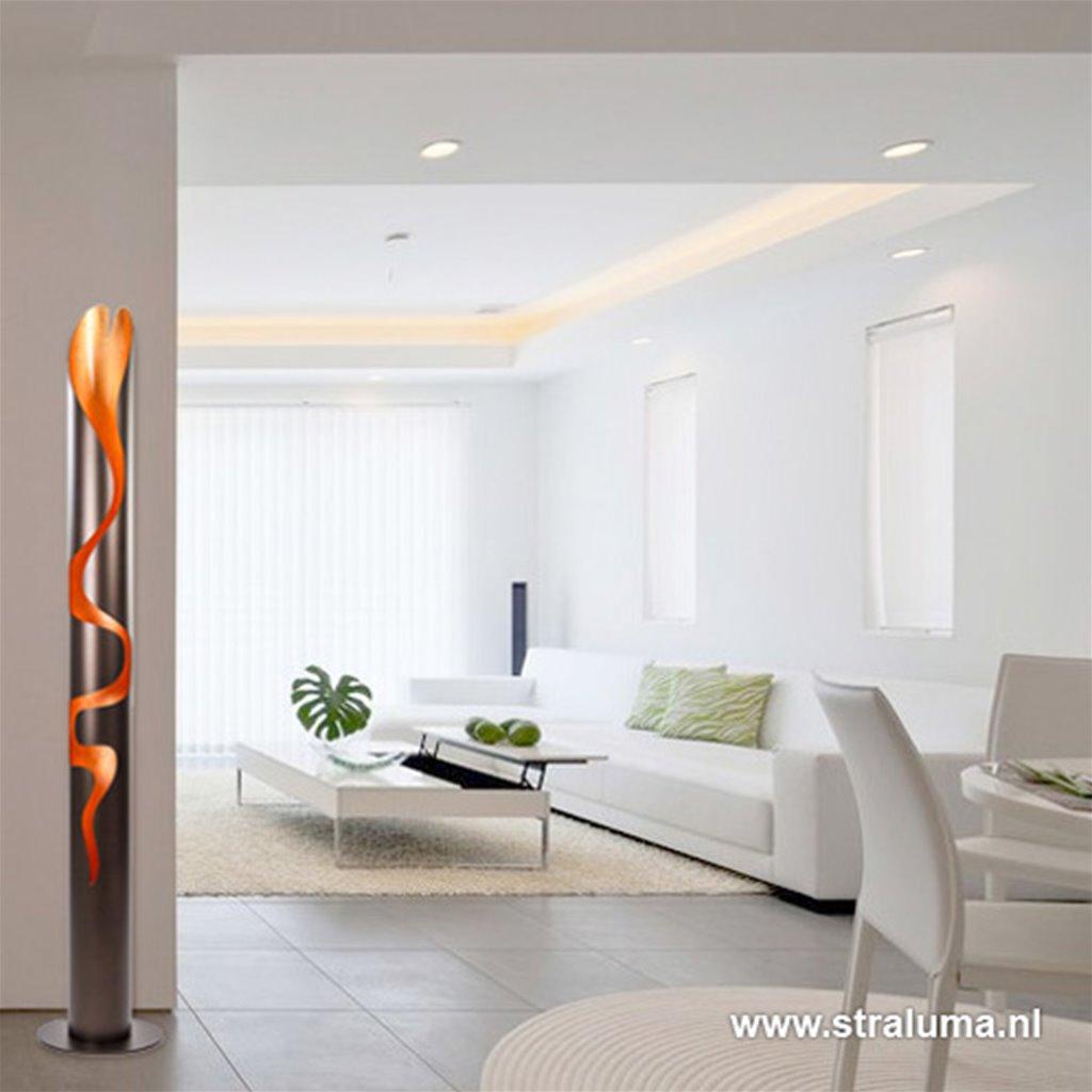 Italiaanse design vloerlamp -zuil bruin