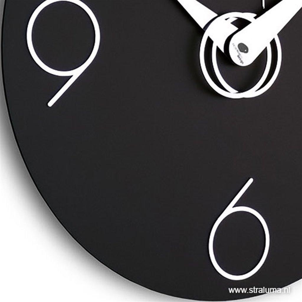 Moderne zwarte wandklok 40cm