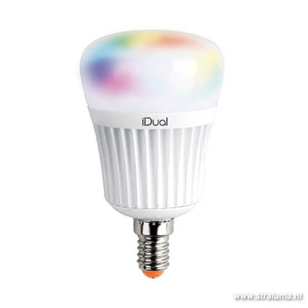 *Idual LED lichtbron E14 meerkleurig