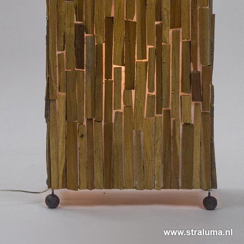 sfeervolle houten staande lamp 100 cm | straluma