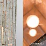 *Wit houten staande lamp white wash