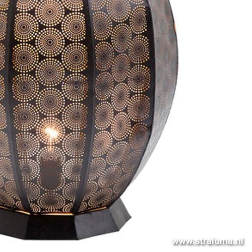 Orientaalse tafellamp zwart/ goud living