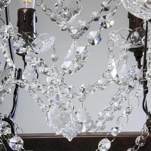 Klassieke eettafelhanglamp met kristal