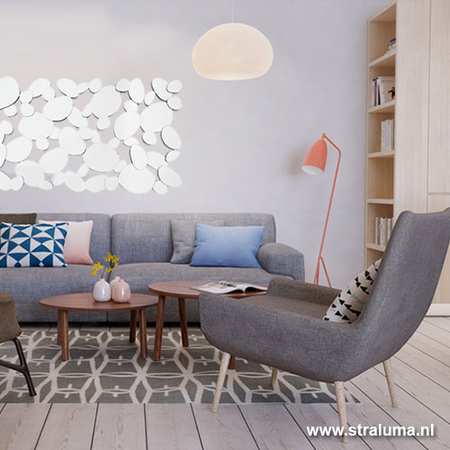 spiegel langwerpig druppel hal woonkamer | straluma, Deco ideeën