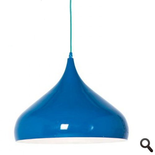 Trendy Retro hanglamp blauw, eettafel