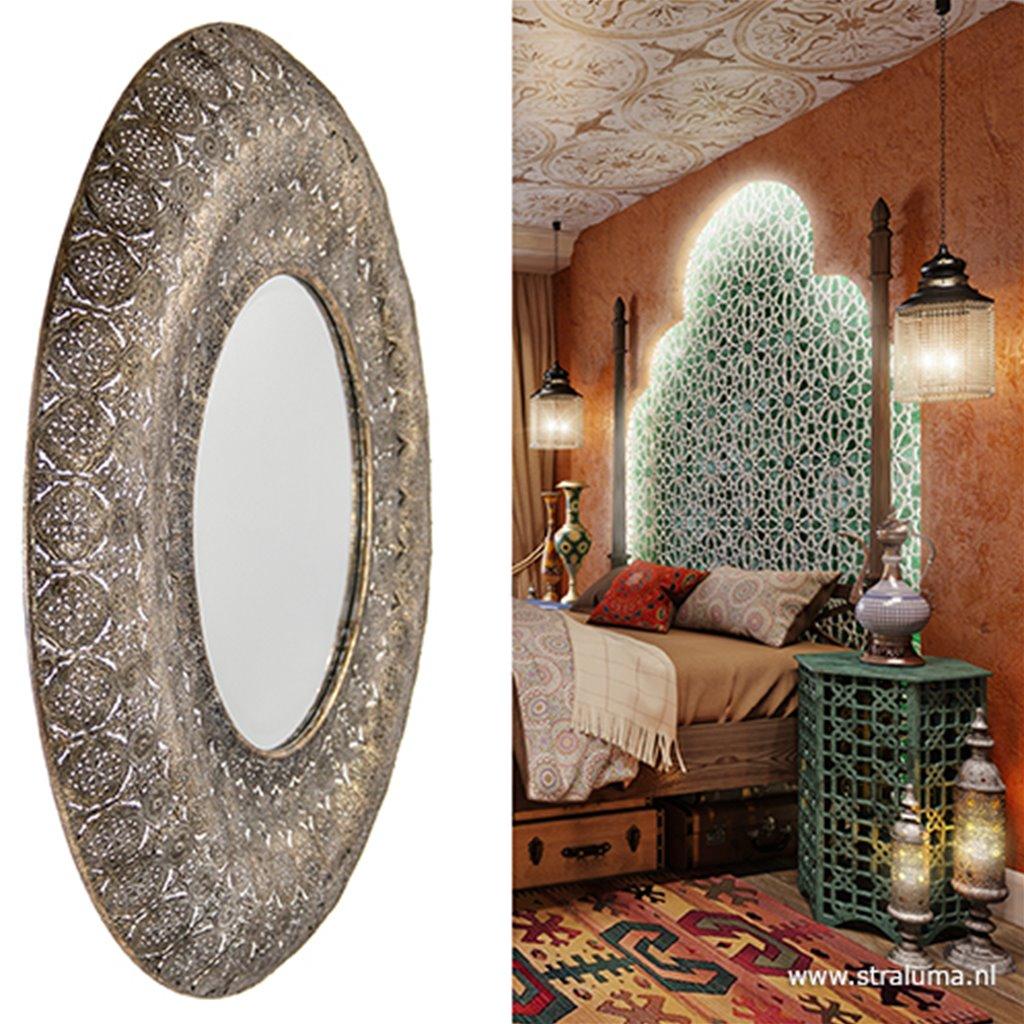 Marokkaanse Spiegel Groot.Grote Oosterse Spiegel Oriental Www Straluma Nl