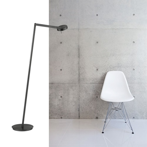 Zwarte moderne vloerlamp LED met touchdimmer