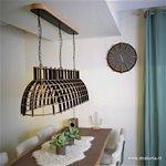 * Eettafel hanglamp Cone hout zwart