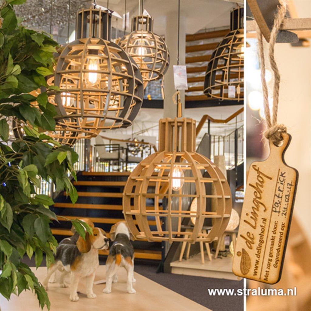 *Hanglamp Globe Lingehof naturel keuken
