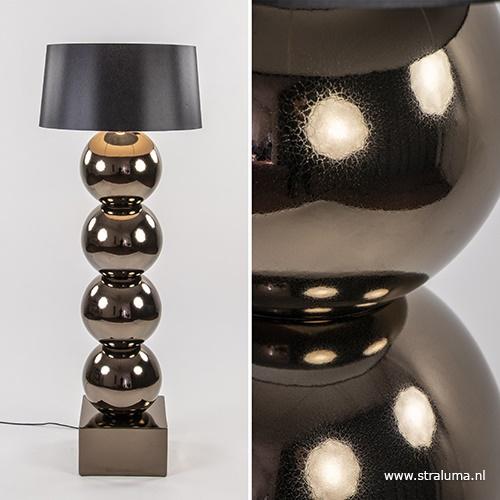 Design vloerlamp bol brons exclusief kap