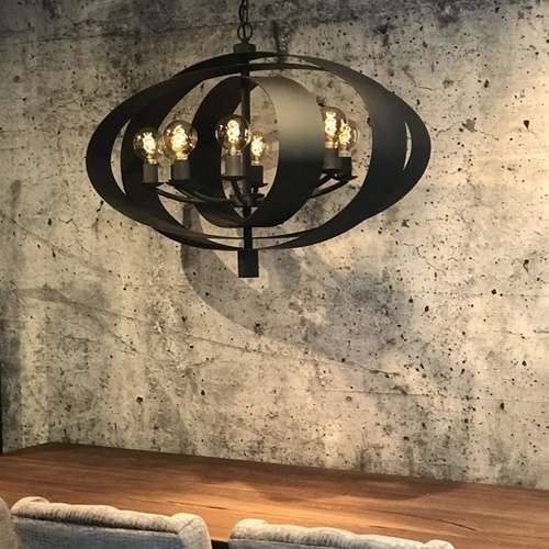 Hanglamp Malibu industrial dark