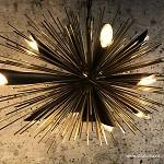 Moderne design hanglamp goud met zwart