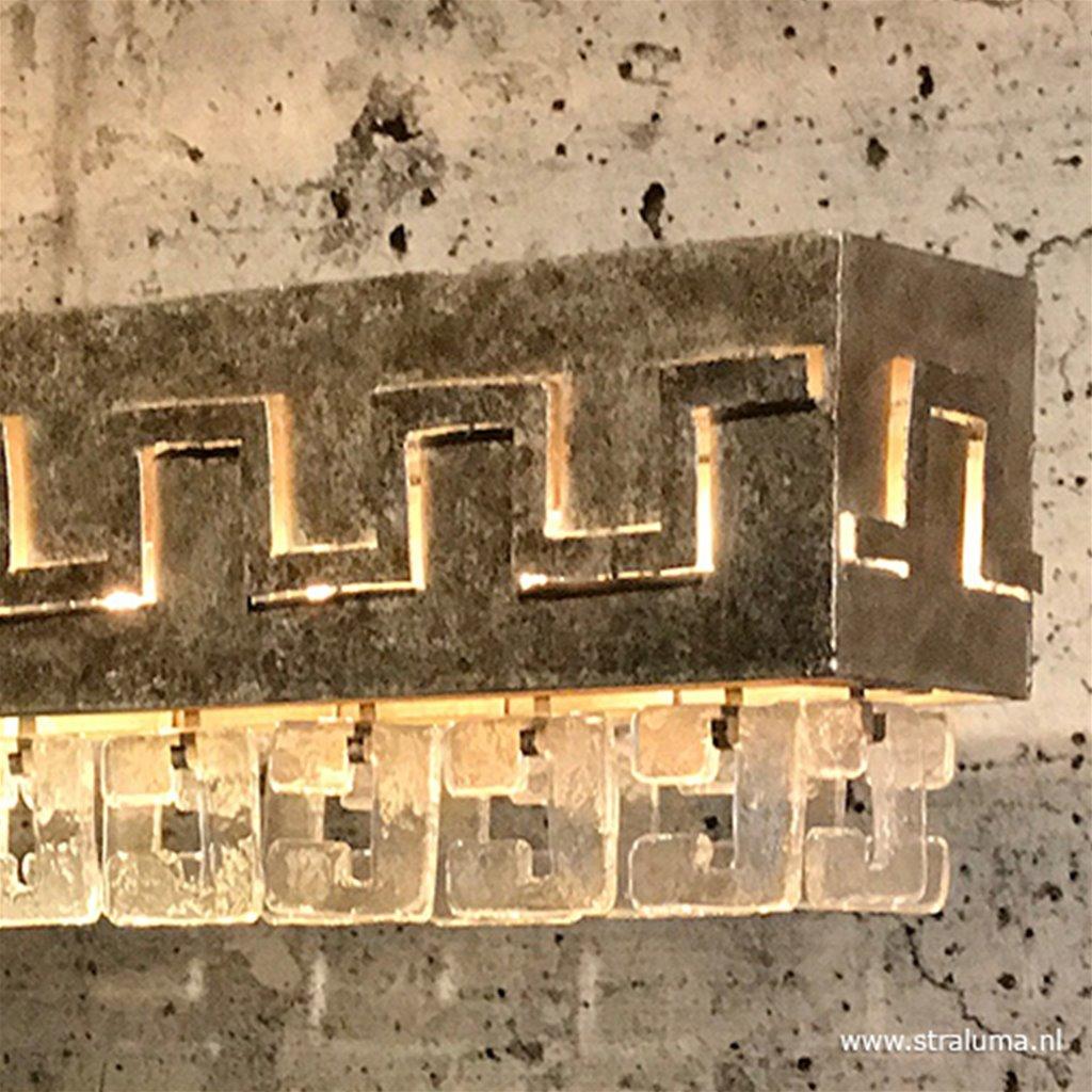Oud zilveren design hanglamp Casero