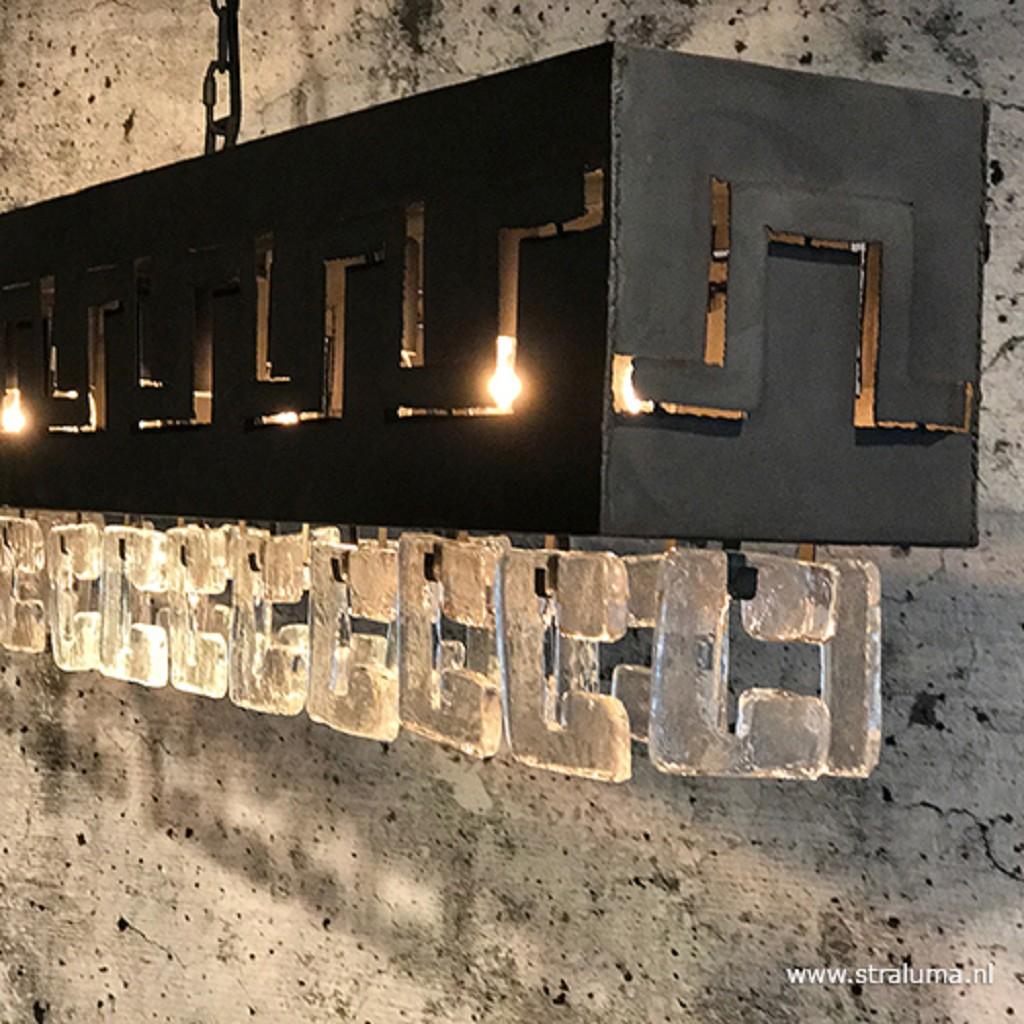 Metalen hanglamp Casero dark grey