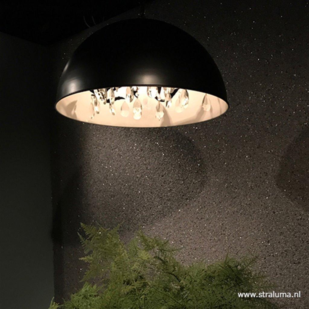 Moderne hanglamp koepel met kristal 60cm