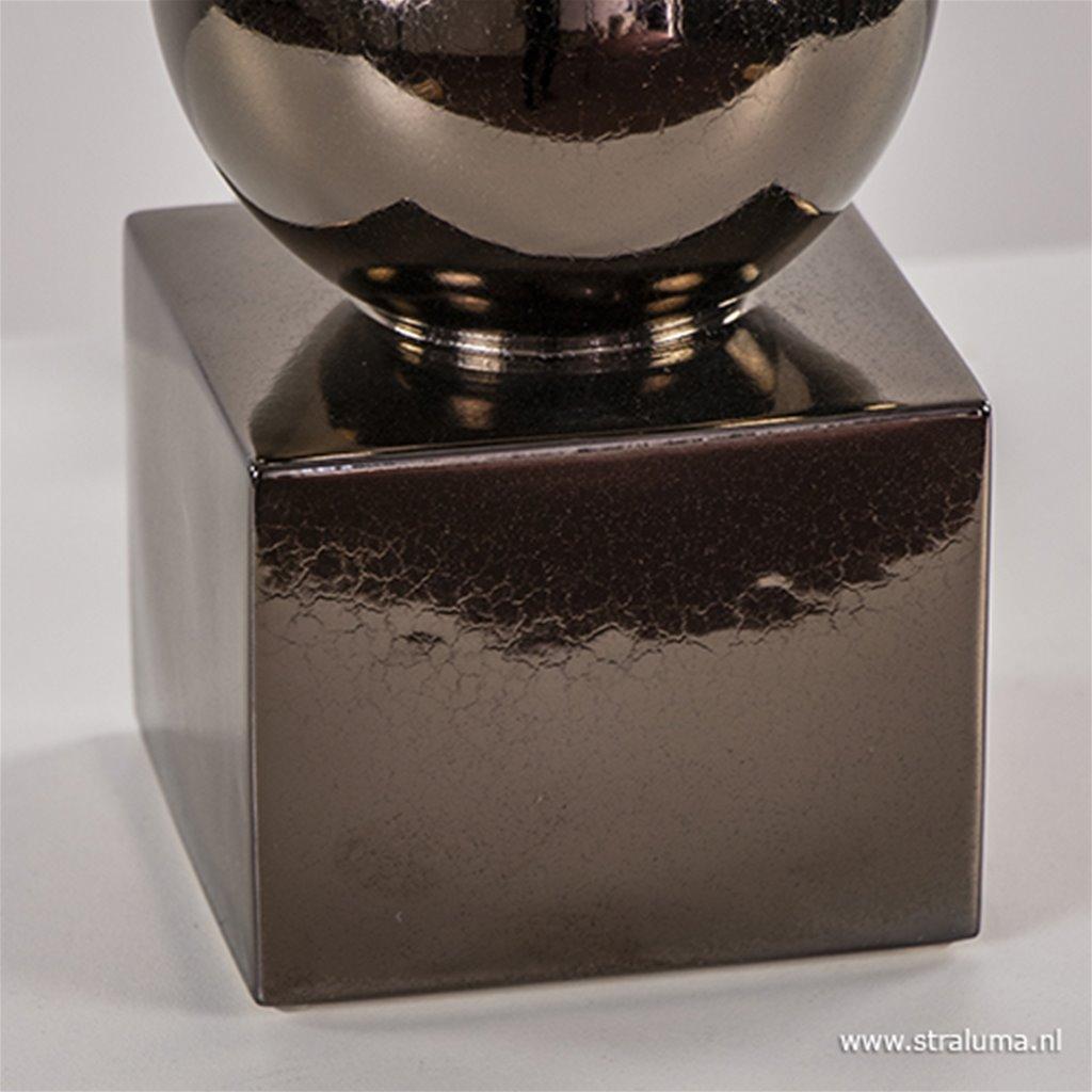 Luxe tafellamp bol brons exclusief kap