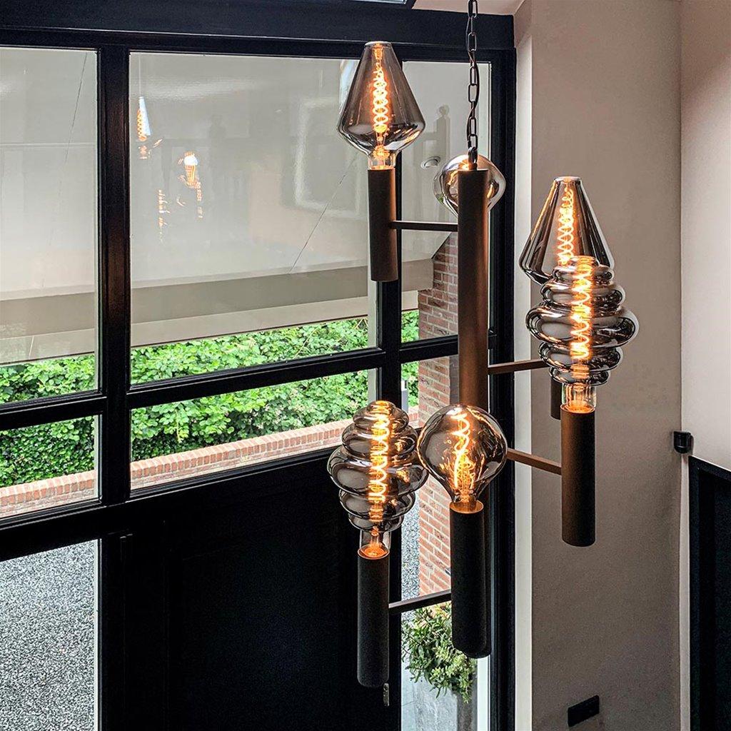 Luxe vide hanglamp industrial dark