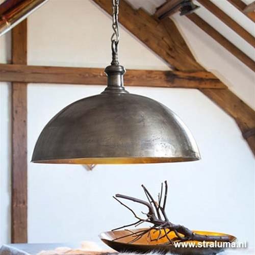 Light & Living Hanglamp Adora oud zilver