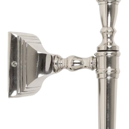Zilveren wandlamp Delhi fakkel