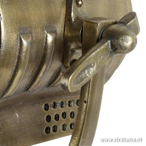 Industriele vloerlamp driepoot brons ant