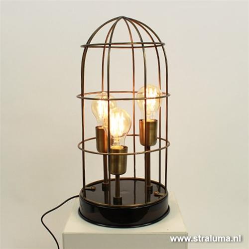 Light & Living tafellamp Carandira brons