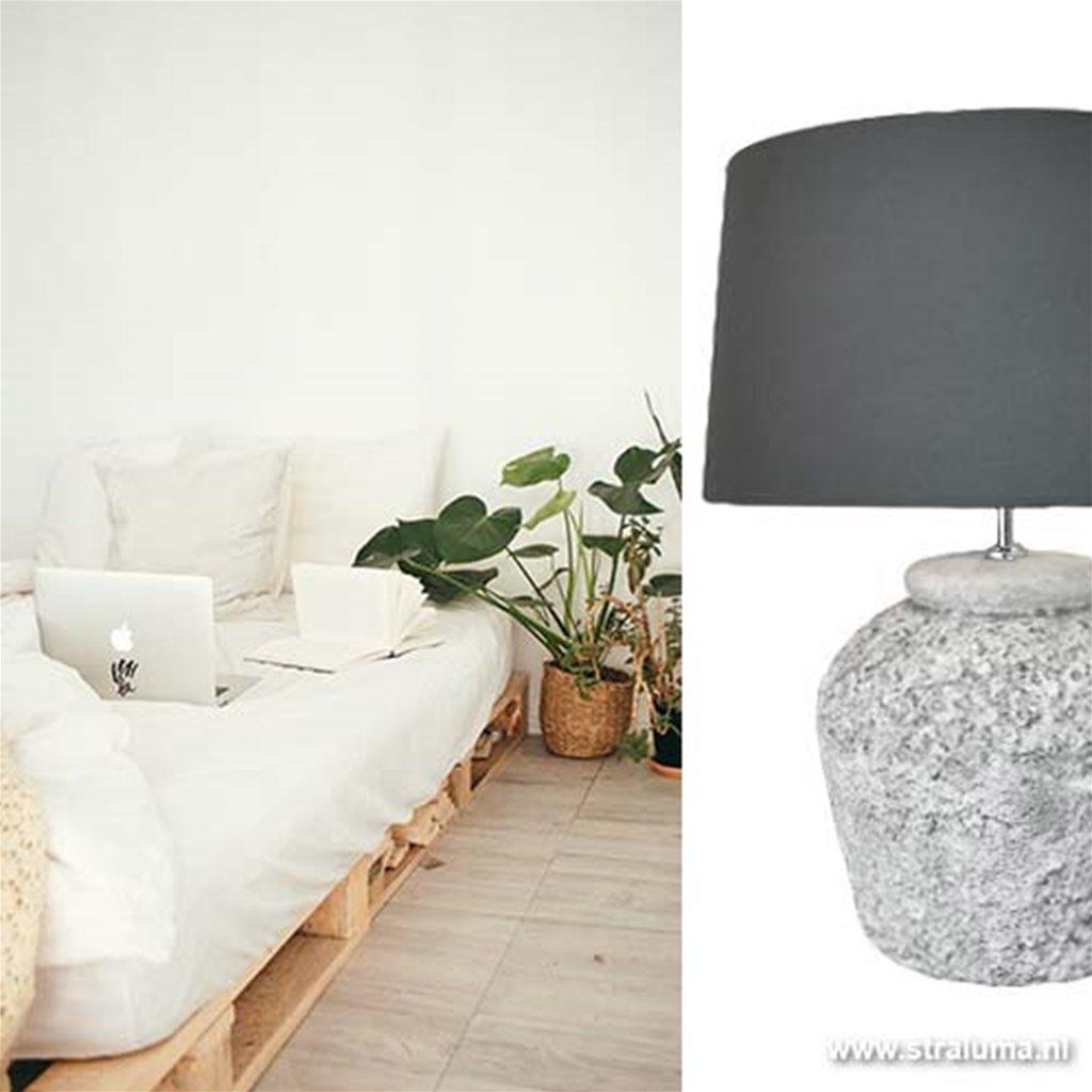Grote tafellamp-lampvoet Patuha beton