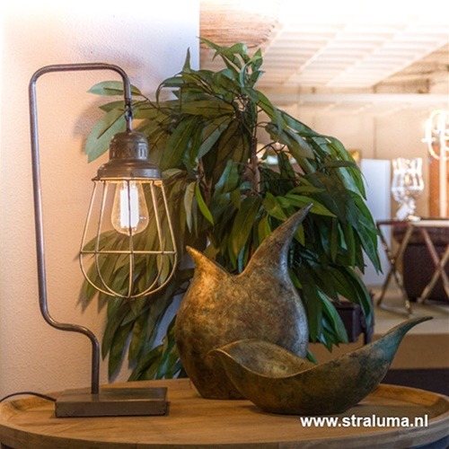 Kooi tafellamp industrie metaal draad