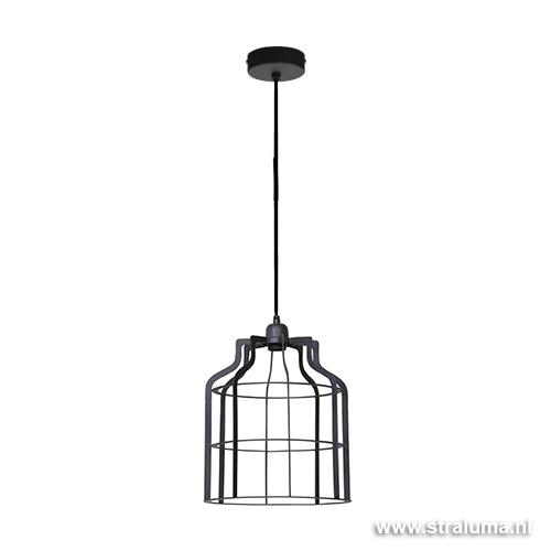 Donker metalen hanglamp industrie Adine